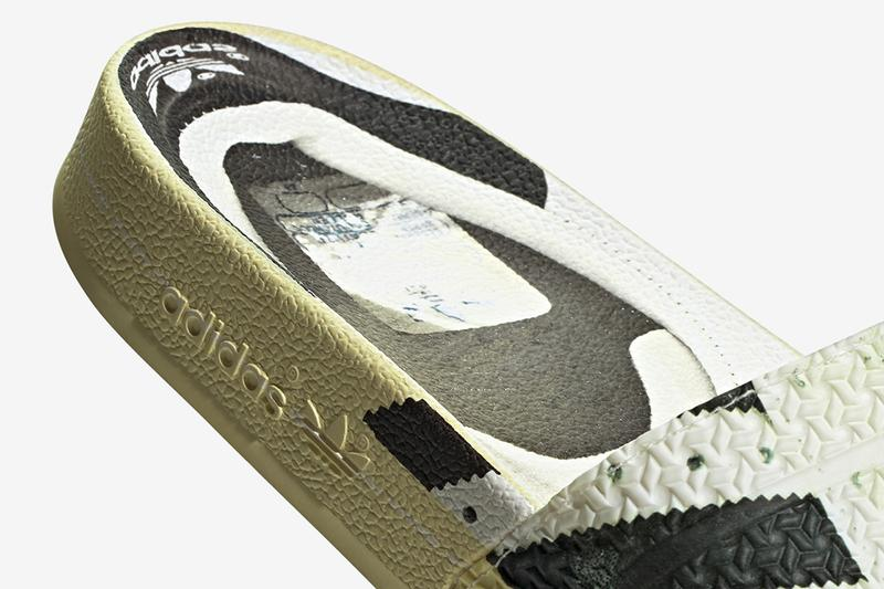 "adidas Originals adilette Superstar ""Ftwr White/Core Black/Off White"" Fw6093 Slides Sandals Slipper Three Stripes 50th Anniversary Release Information Footwear Drops July 1"