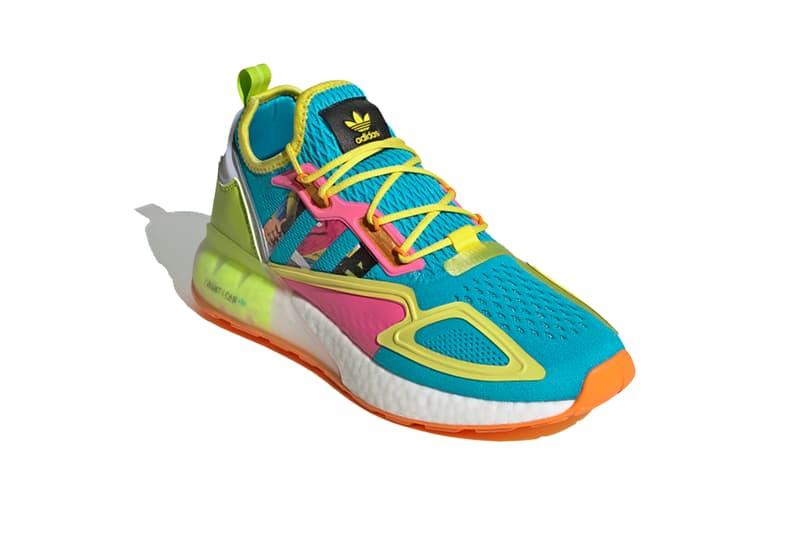 adidas originals zx 2k boost electric yellow i want i can silver metallic bright orange