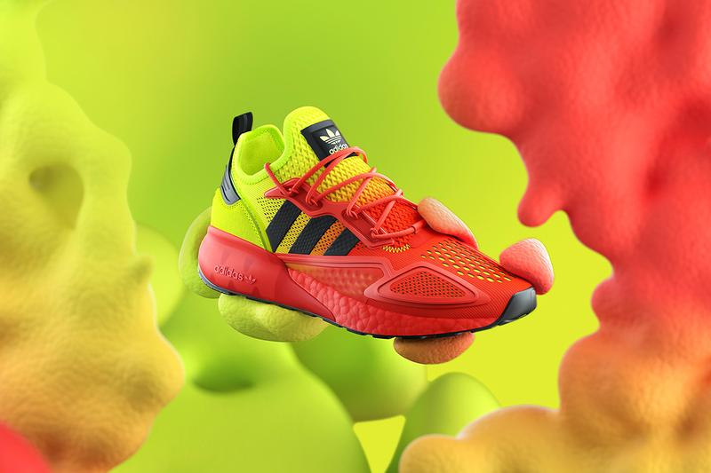 Adidas originals zx sneaker boost technology when do they drop Solar Yellow Hi-Res Red White Violet Pink