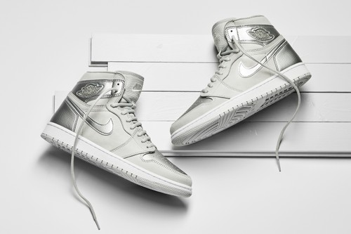"Official Look at the Air Jordan 1 CO.JP ""Metallic Silver"""