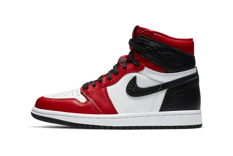 air jordan brand 1 retro high satin snake womens gym red white black CD0461 601 official release raffle date info photos price store list buying guide