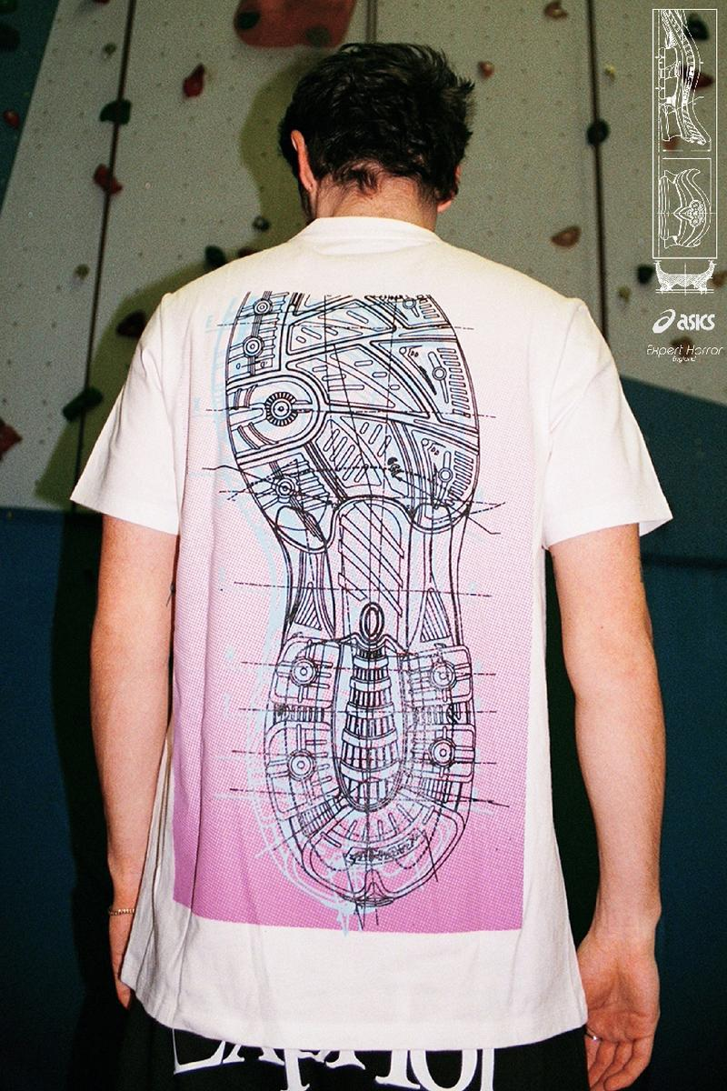 asics expert horror t-shirt capsule gel kinsei sneaker