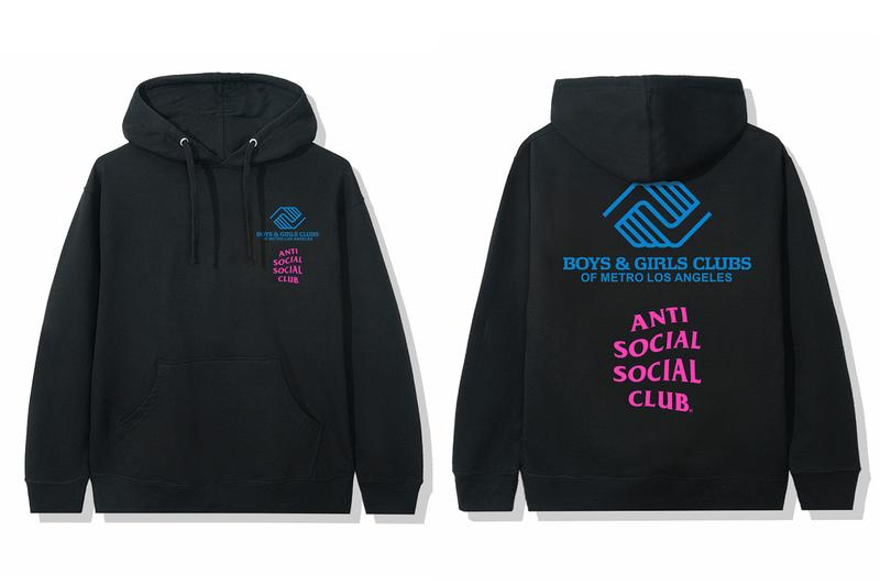 Anti Social Social Club Boys & Girls Clubs of Metro Los Angeles Capsule Release Info Buy Price Date T shirt Hoodie Cap