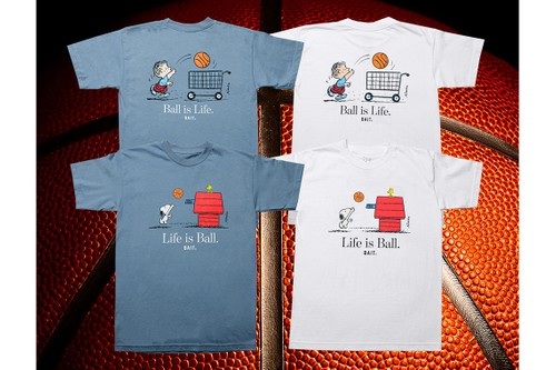 BAIT Pays Homage to Basketball With Iconic Characters from 'Peanuts'