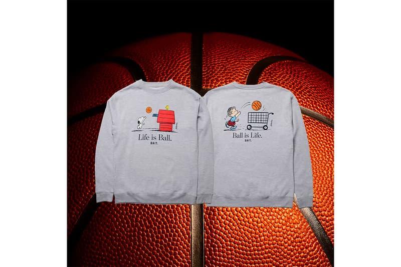 BAIT x Peanuts Basketball Collection NbA LAKERS basketball PEANUTS cartoon Charles M. Schulz