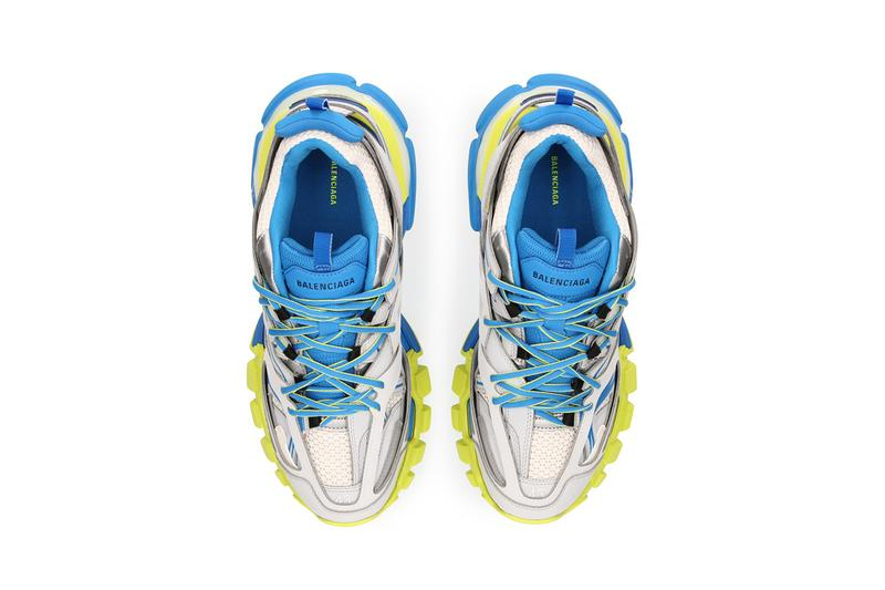 Balenciaga track sneaker grey blue yellow colorway tyres sneaker release date info where to cop buy