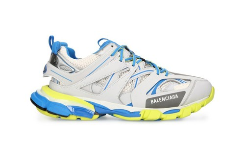 Balenciaga's Track Sneaker Lands in a Crisp Grey and Blue Colorway