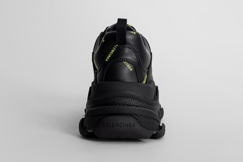 balenciaga triple s chunky sneaker dad shoe red black neon green official release date info photos price store list buying guide