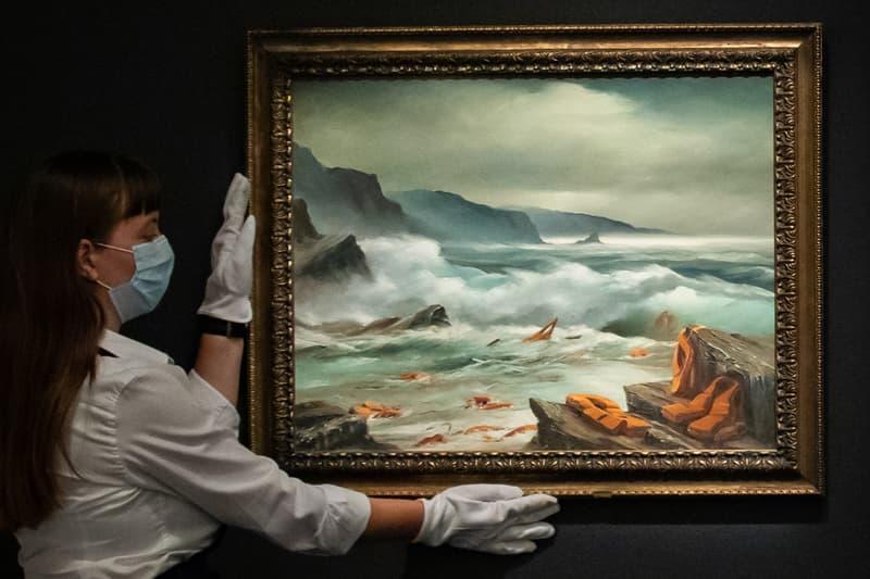 banksy meditarranean sea view sothebys auction results prices artworks sale