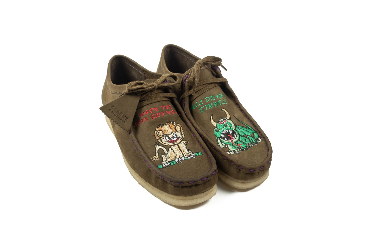 better gift shop clarks originals wallabees collaboration joshua joshua griggs brothers embroidery