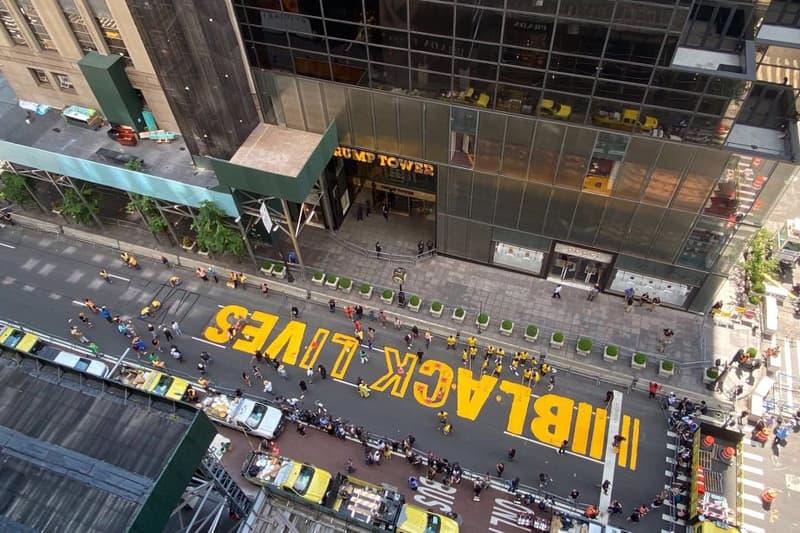 black lives matter mural trump tower mayor bill de blasio new york city artworks street art