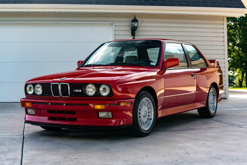 BMW M3 E30 1988 Red 8k Miles in Collector Condition Zinnoberot Bring a Trailer Auction Live $75,000