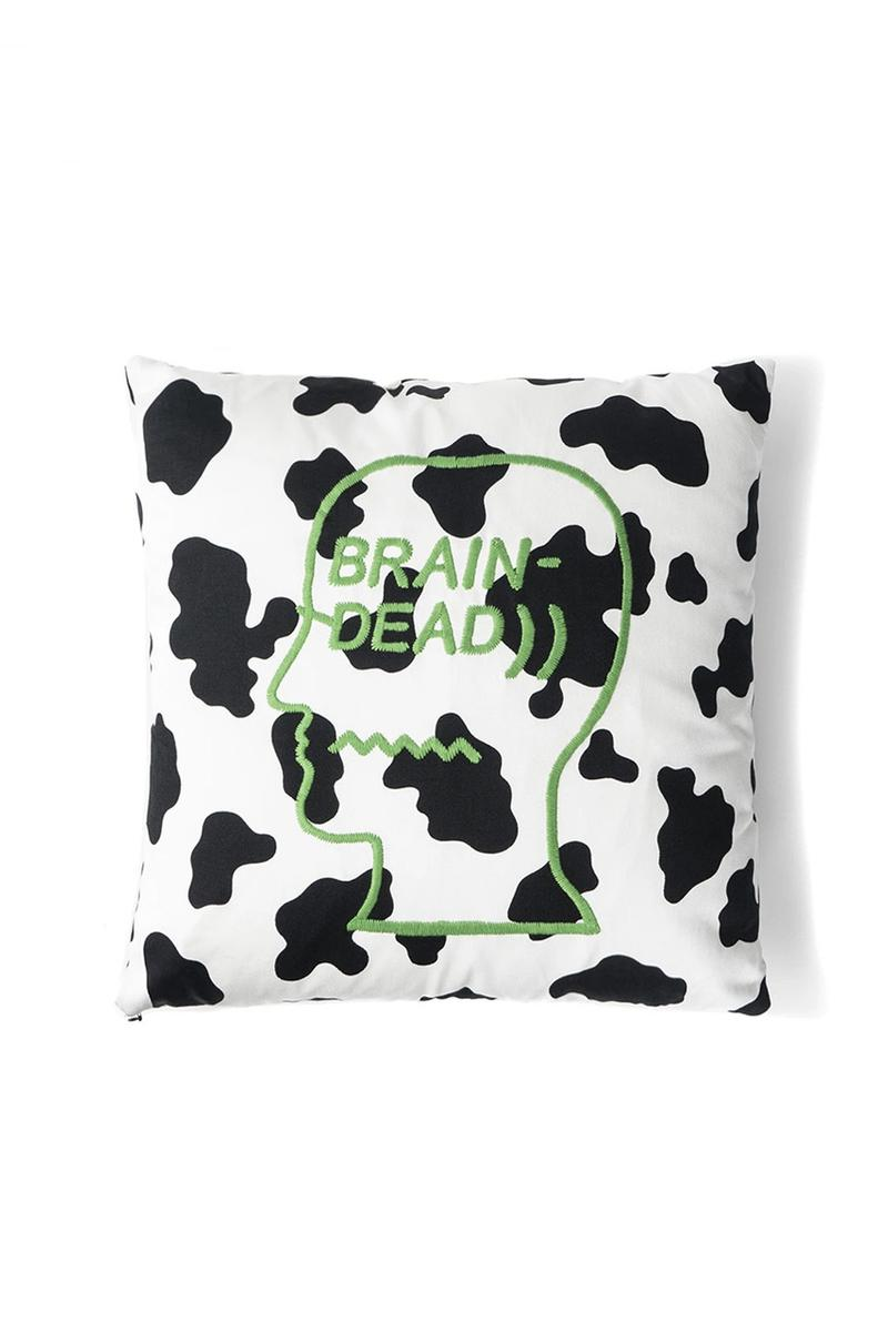 Brain Dead Cow Print Cushion Shorts Drop Date Release Information Closer Look Summer Collection Homeware Nuclear Head Assisted Living™ Made in U.S.A. Contrast Print SS20 Kyle Ng