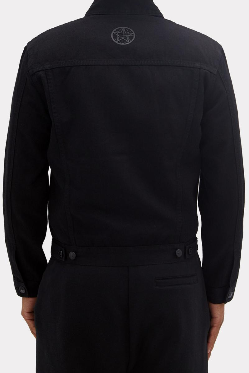 burberry satchwell logo print denim jacket matches fashion ricardo tisci 2020 summer fw