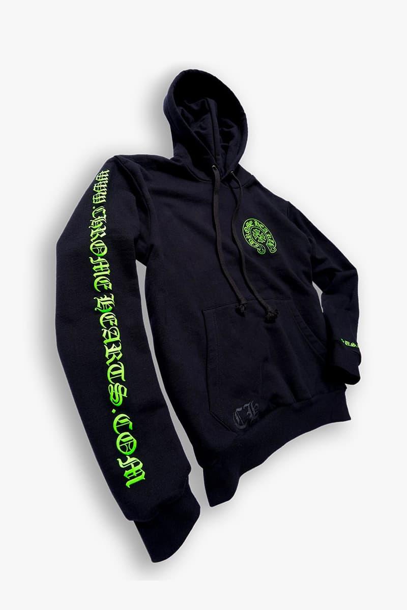 Chrome Hearts Hoodie Online Release Black Neon Green Buy Price Info