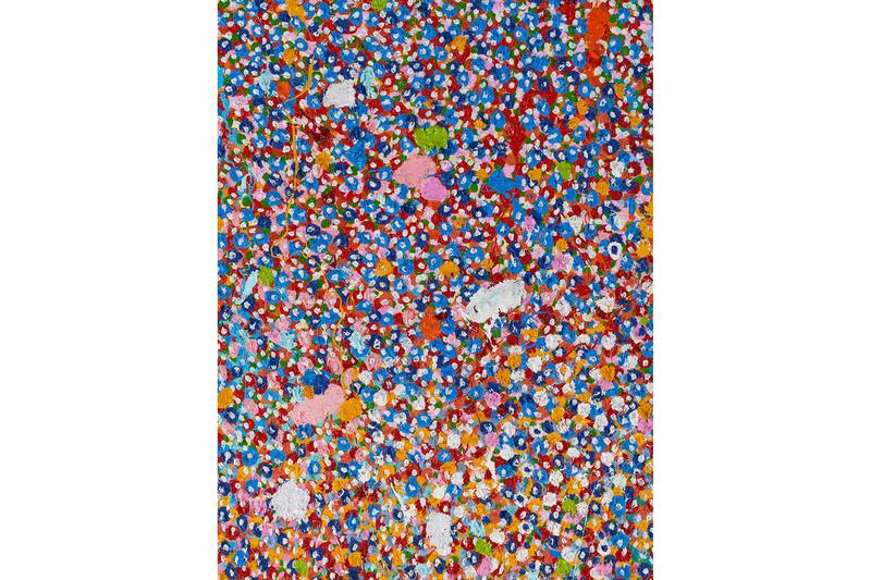 Damien Hirst 'Veil of Hidden Meaning' Spotlight 48 hours abstract paint layers canvas Gagosian gallery