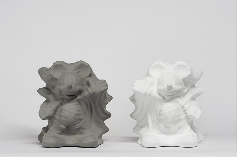 Daniel Arsham x Disney x APPortfolio Gray Hollow Mickey resin figures Hong Kong collectibles artwork Alice in Wonderland