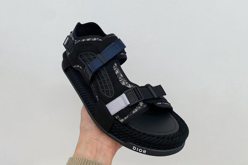 Dior Spring/Summer 2021 Sandals Footwear Collection Thibo Denis SS21 Kim Jones Runway Presentation Closer Look Drops Oblique Monogram CD Straps