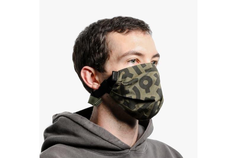 Aaron De La Cruz x DSPTCH Face Mask Release special edition single strap ArtEsteem Border Kindness green black cotton bandana style face covering