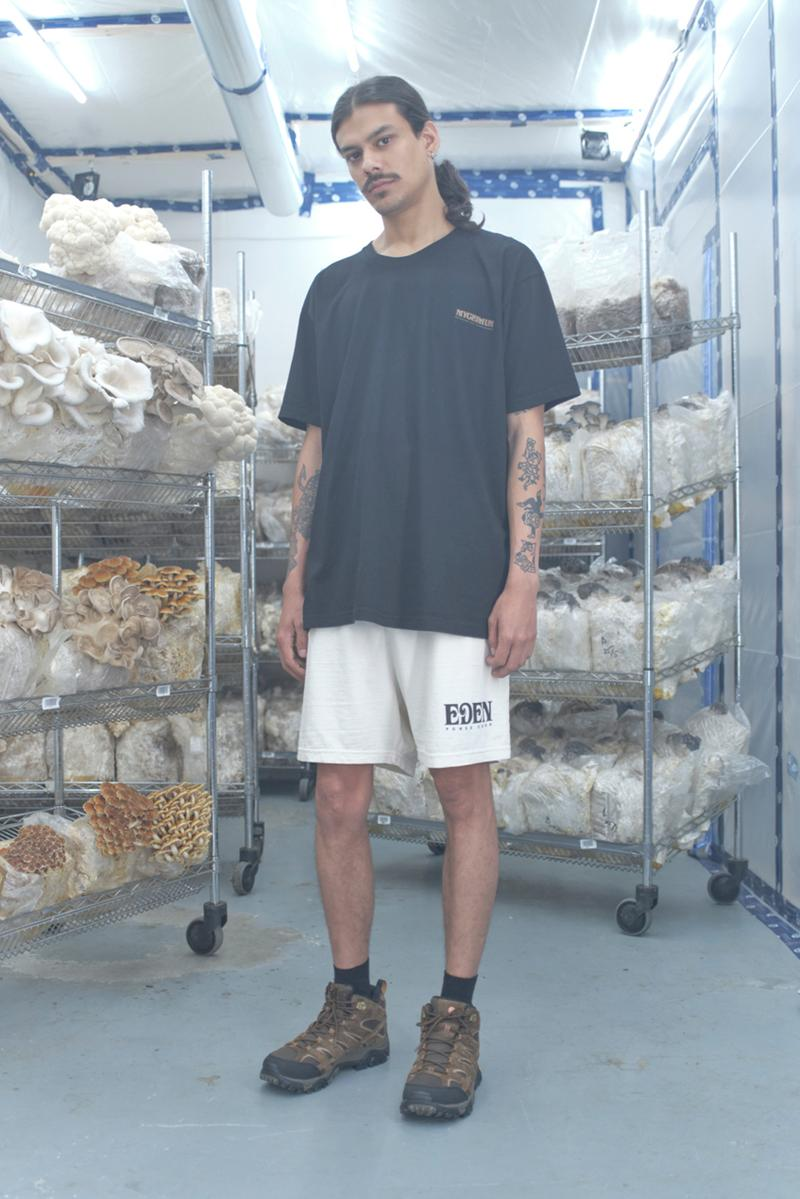 "EDEN Power Corp ""Mycelium Research & Development"" Lookbook collection spring summer 2021 ss21 wretched flowers mushroom crying clover candles"