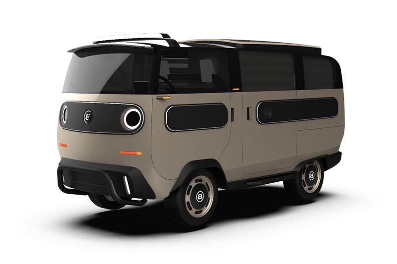 ElectricBrands' eBussy Modular Electric Vehicle EV First Look Futuristic Travel German Automotive Company Tech Minivan Tipper Truck Pickup 1000 Nm Torque 20 HP