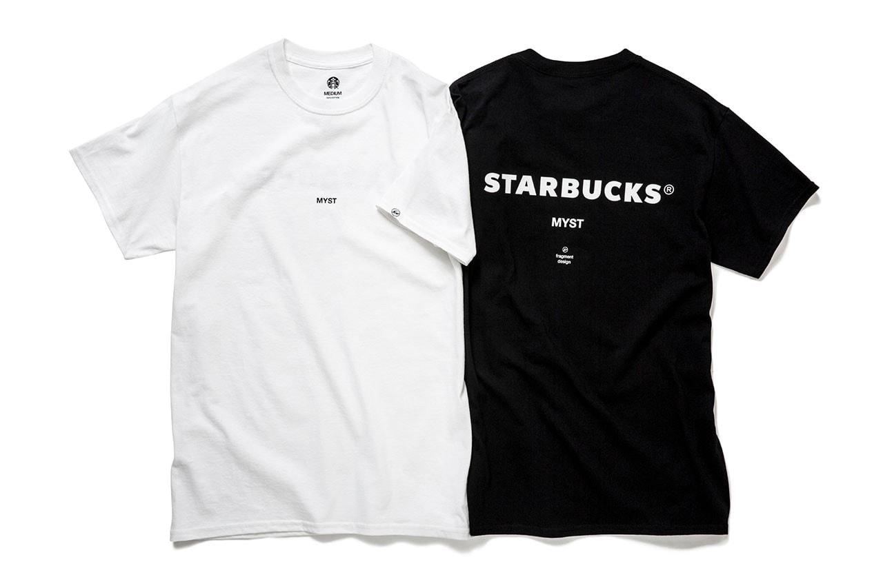 프라그먼트 디자인 x 스타벅스, 텀블러 및 티셔츠 머천다이즈 제품군 공개, 후지와라 히로시