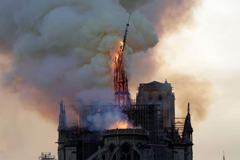 france president macron notre dame cathedral spire fire burn down rebuild original contemporary design architecture gothic