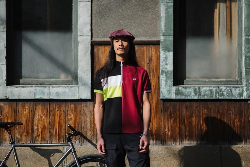 Fred Perry narifrui fall winter 2020 polo shirt laurel wreath cycling bike wear Japanese Tokyo cycle