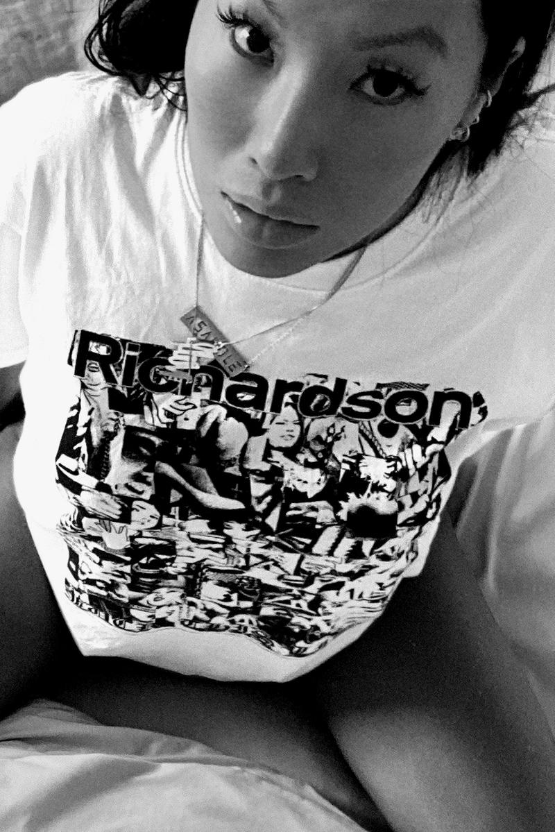 Fuck This Life x Richardson T-Shirt Seminal Artist Weirdo Dave Lookbook Pornstar Asa Akira Release Information Drop Closer Look White Tee Graphic Print