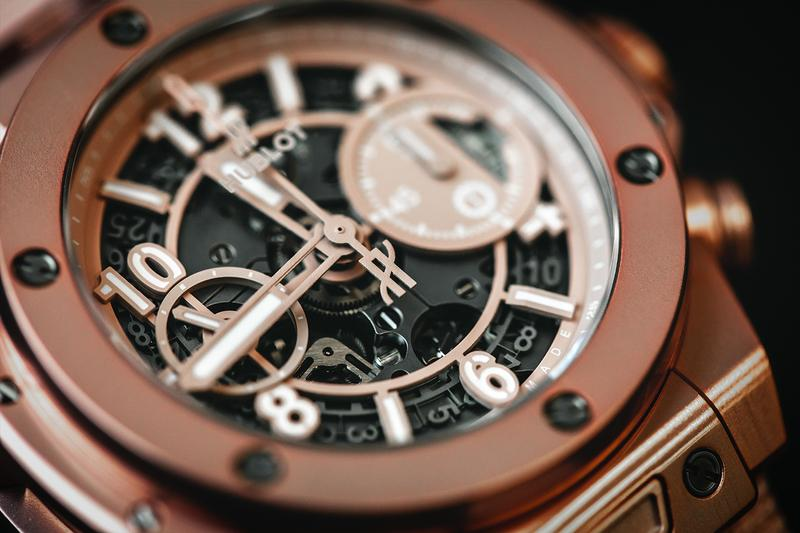 Garage Italia x Hublot Millennial Pink Big Bang Chronograph watches unico mecahnical watches luxury sports luxe timekeeping movement swiss