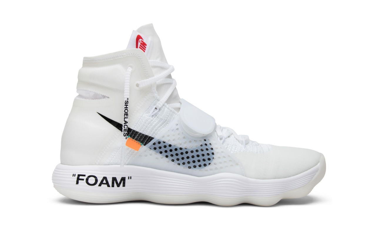 Virgil Abloh design collaboration shoes Louis Vuitton Off-White x Nike collection GOAT app Presto Black Hyperdunk Air Max 90 OG White Dunk University Red Blazer All Hallows Eve AF1 Volt Jordan 1 UNC