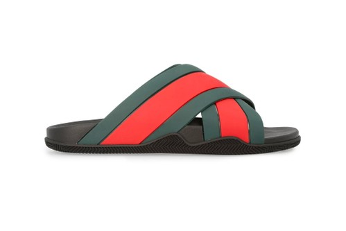 Gucci Enlivens Signature Red and Green Stripes Over New Sandals