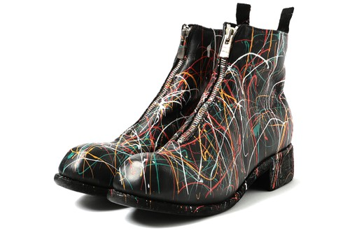 BEAMS International Gallery Teams with Guidi for Paint-Splattered PL1 Boots