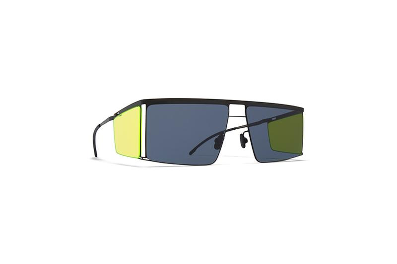 MYKITA and Helmut Lang Sunglasses Collection eyewear collaboration spring/summer 2020 runway HL001 HL002 neon yellow pink blue black white frames