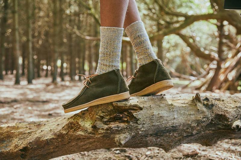 yogi footwear hikerdelic proper mag collaboration eric shoes fw20 fall winter 2020 tumeric dark olive moss
