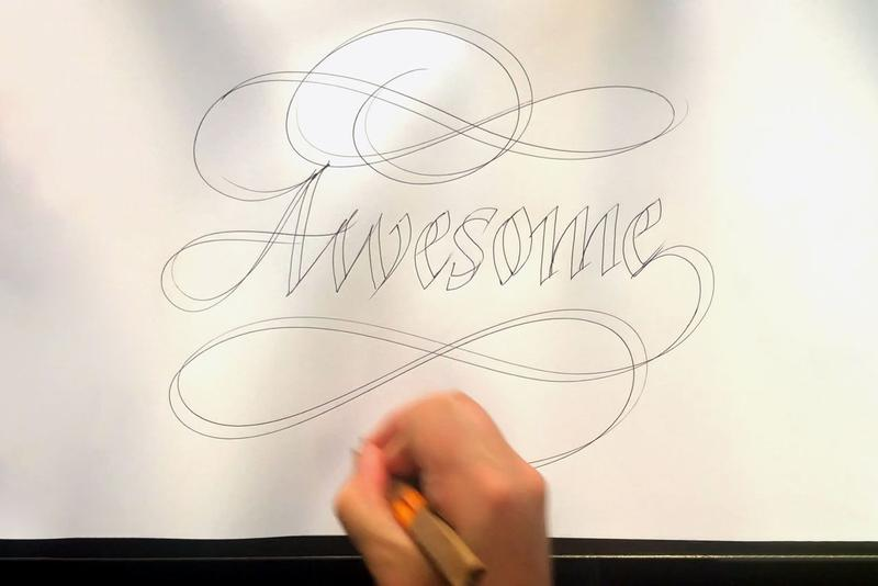 Seb Lester Calligraphy Artist How To Draw Video diy pen lettering typography