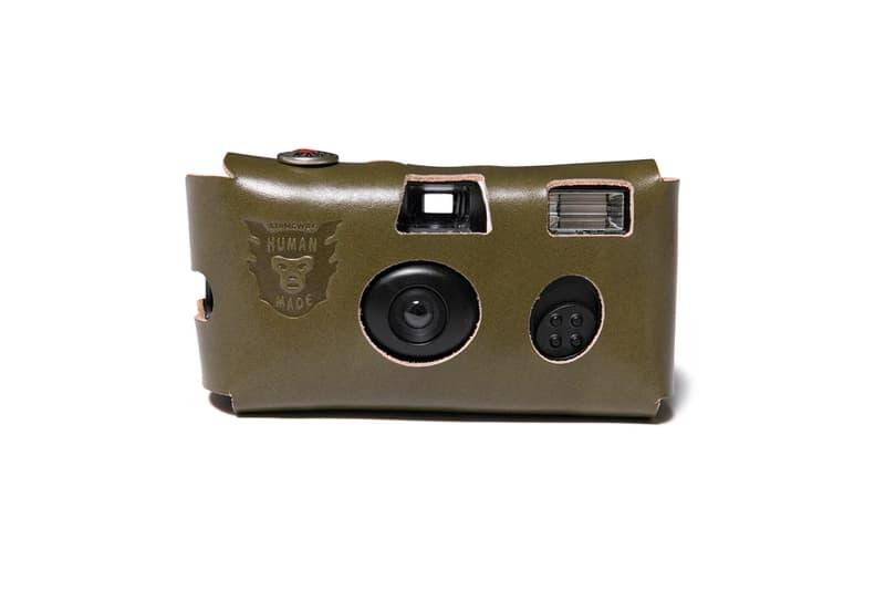 HUMAN MADE Disposable Camera Leather Accessories Release nigo leather handmade film cameras