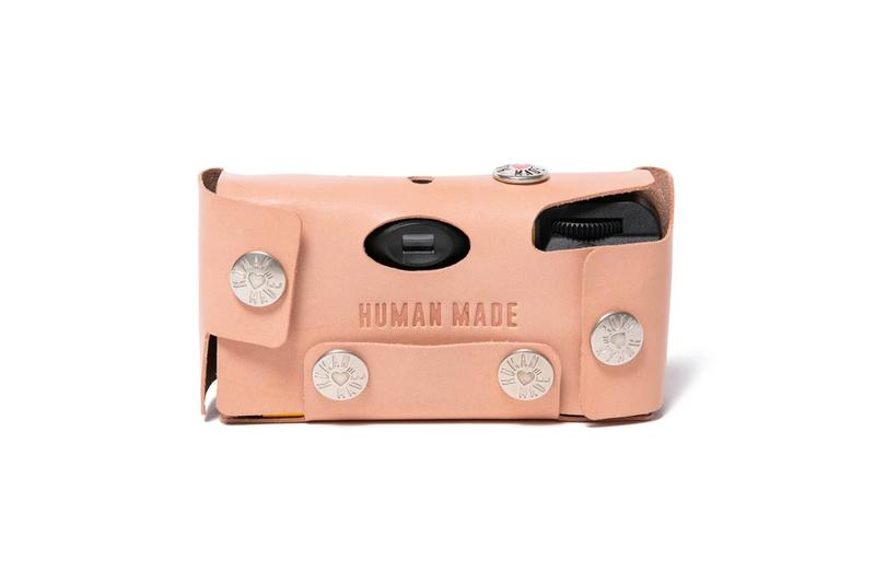 HUMAN MADE Disposable Camera Leather Accessories Release nigo leather handmade film cameras