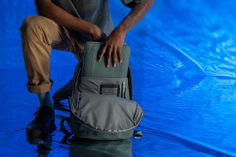 ocean plastic rip stop nylon backpack laptop sleeve accessory case