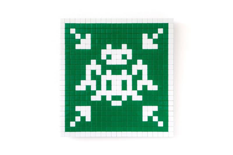 "Invader First Solo Exhibition ""Hanging"" in Hong Kong Aliases Mona Lisa Rubik Cube mosaics"