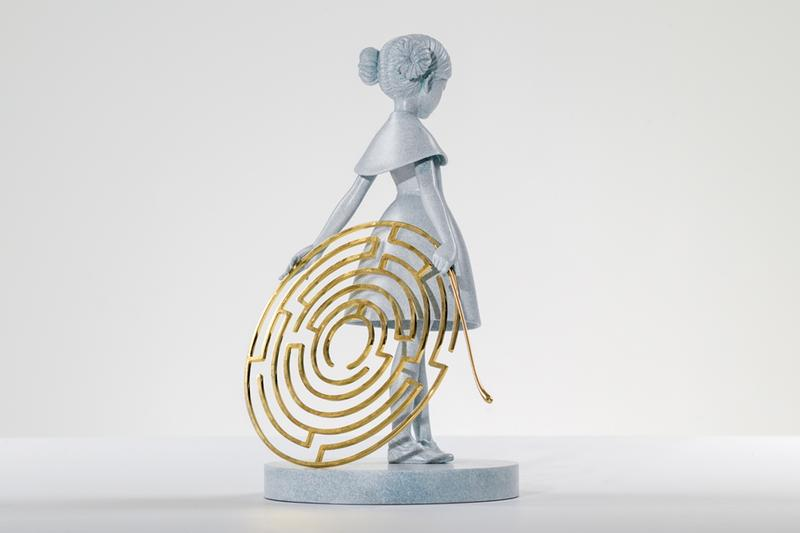 James jean maze bronze sculpture avant arte release info gold plated stainless steel Little Dancer homage
