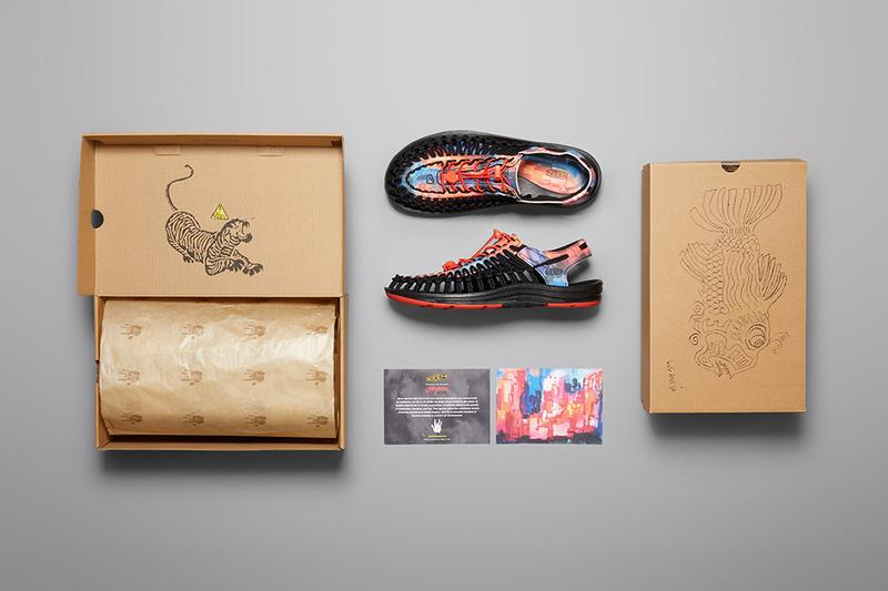 Jerry Garcia x KEEN Paintings Sandals New York at Night Banyan Tree the grateful dead new port retro uneek prints shoes footwear water color