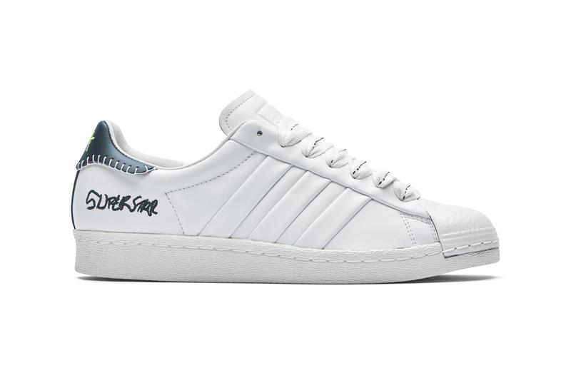 Jonah Hill x adidas Originals Superstar Release Information Drop Date Footwear Three Stripes Sneakers White Black Neon Green Shell Toe JH collaboration actor director core off night