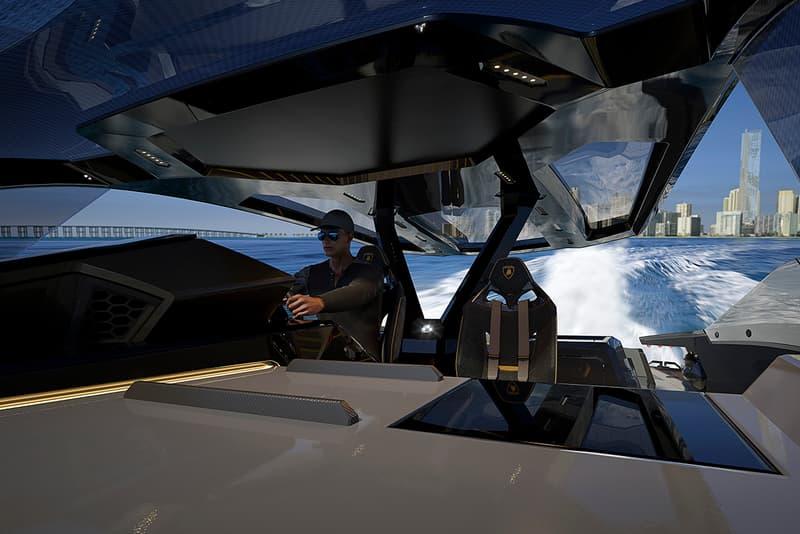 Lamborghini x The Italian Sea Group Tecnomar for Lamborghini 63 Super Yacht Boat Release Information Nautical Sián FKP 37 Terzo Millennio Miura Countach