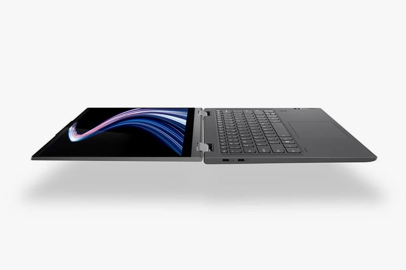 Lenovo Flex 5G laptop fifth generation network higher multi-Gbps data speeds lower latency more reliability