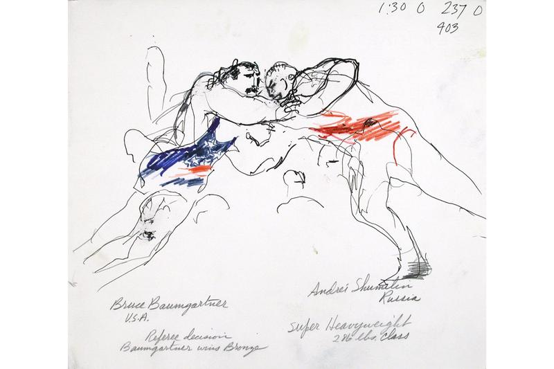 LeRoy Neiman U.S. Olympic and Paralympic Museum exhibition paintings drawings