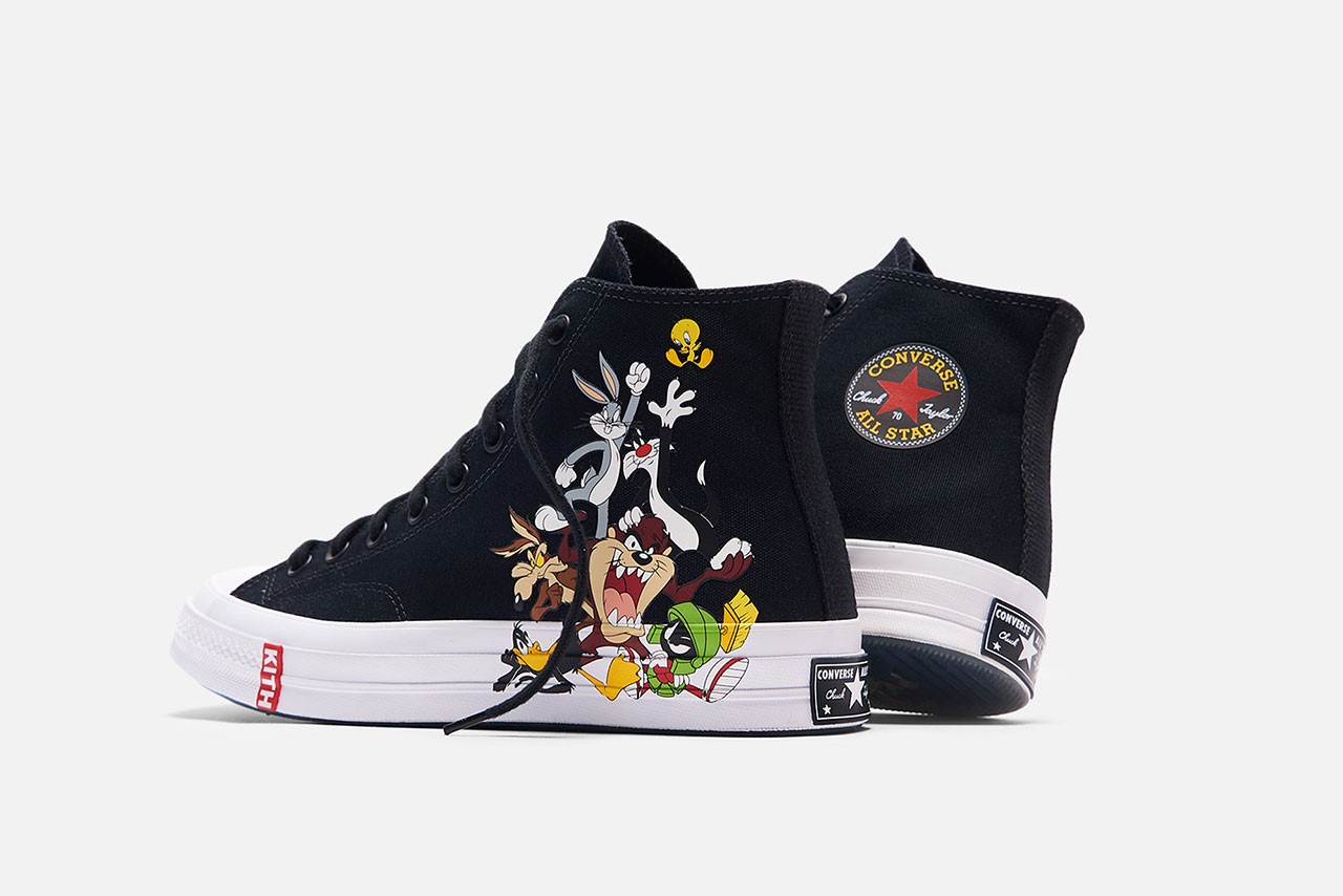 'Looney Tunes' x KITH Clothing Collaboration Converse sneakers chuck taylor all star 70s bugs bunny lookbook plushes rug cartoon interview ronnie fieg