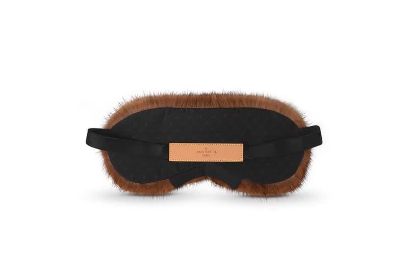 Louis Vuitton Mink Fur Sleep Eye Mask luxury premium face mask eye mask monogram