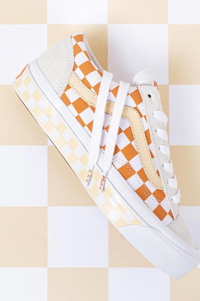 Maha x Vault by Vans OG Style 36 LX Amsterdam Orange Tompouce Marshmallow Amberglow True White sneakers shoes old skool