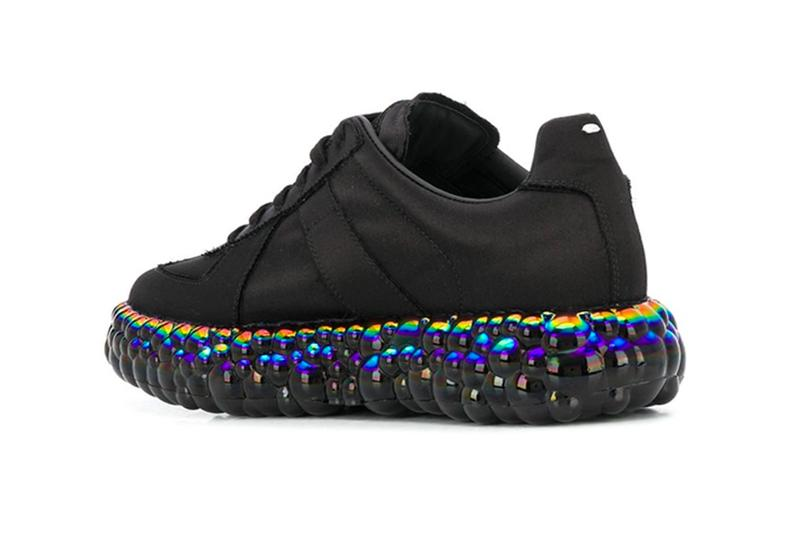 Maison Margiela Replica Super Bounce Black Iridescent menswear streetwear spring summer 2020 collection ss20 shoes sneakers runners trainers kicks